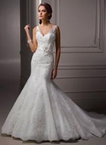 lace-v-neckline-mermaid-wedding-dress-220x300